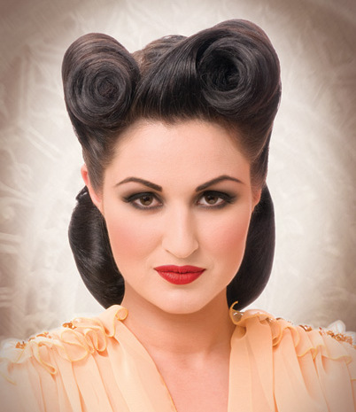 vintage-style-victory-rolls-hairstyle